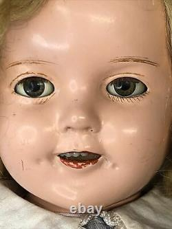 13 Antique Ideal Compo Shirley Temple 13 Doll With Clear Eyes Original Dress #Co