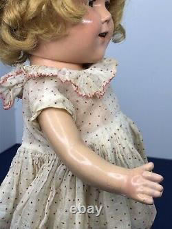 13 Antique Ideal Shirley Temple Compo With Original Dress & Wig Clear Eyes #Mi