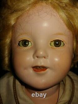 13 IDEAL Shirley Temple Doll with clear eyes