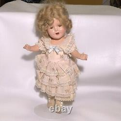 13 Shirley Temple Doll 1930s Ideal vintage Composition Doll Dress And Bloomers