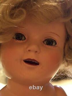 13 Shirley Temple Doll 1930s Ideal vintage Composition Doll Original Dress Slip