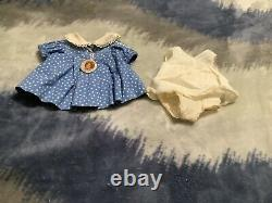 17 inch Shirley Temple tagged dress with slip and button
