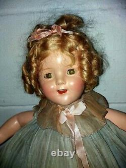 18 1930s IDEAL Composition SHIRLEY TEMPLE Doll with original Tagged Mohair Wig