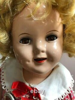 18 Antique Ideal Compo Shirley Temple Doll NRA Tagged Original Dress Adorable S