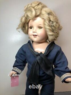 18 Antique Ideal Compo Shirley Temple Original Captain January Sailor Navy #SH