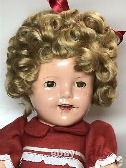 18 Antique Ideal Compo Shirley Temple Redressed 1930s Adorable Curls #CO