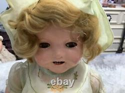 18 inch Baby Shirley Temple Dolls Composition Marked