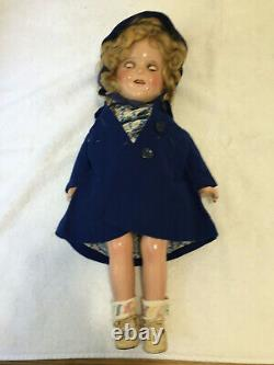 1930's 18 Composition Ideal Shirley Temple with old & new Dress Button