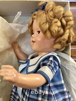 1930's IDEAL SHIRLEY TEMPLE 16 COMPOSITION DOLL WITH BOX