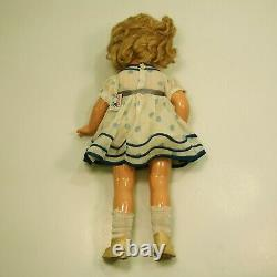 1930's IDEAL SHIRLEY TEMPLE 16 COMPOSITION DOLL WITH ORIGINAL DRESS & SHOES