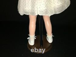 1930's Ideal 16 Shirley Temple Composition Doll In Blue Polkadot Dress
