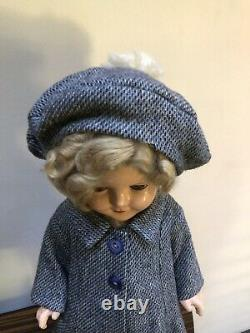 1930's Ideal Shirley Temple Composition Doll 18 Tall Sleep Eyes Adorable