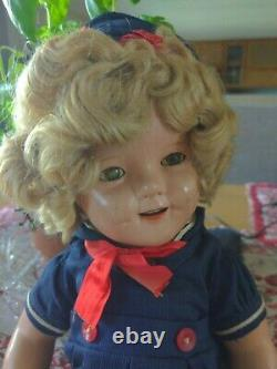 1930's Ideal Shirley Temple sailor doll