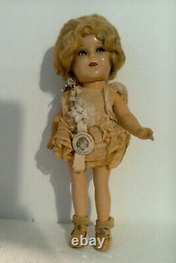 1930s 13 Compo Ideal Shirley Temple Flirty Eye Makeup Doll RARE Pink BTAB Costu