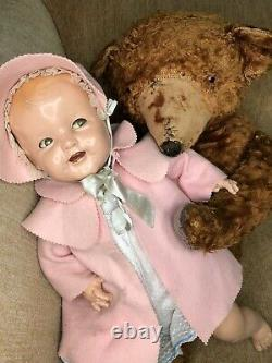 1930s Ideal Composition Doll Flirty Eye Hard to Find SHIRLEY TEMPLE BABY 22