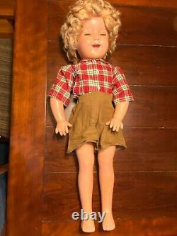 1930s Shirley Temple 27 Texas Ranger Cowgirl Doll. Really Nice