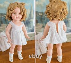 1930s Vintage 18 Shirley Temple Composition Doll Rare Tagged Cherry Dress w Box