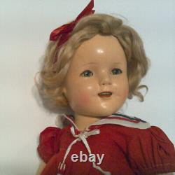 1934 18 Composition Ideal First Run COPN&T Shirley Temple Doll in Sailor Dress