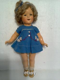 1934 18 Composition Ideal First Run COPN&T Shirley Temple Doll in Scottie Dress