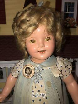 1934 18 Composition Ideal First Run Shirley Temple Doll in Capt January Dress