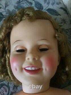 1960's Beautiful 35-36 Tall Shirley Temple Vinyl Doll Excellent Condition