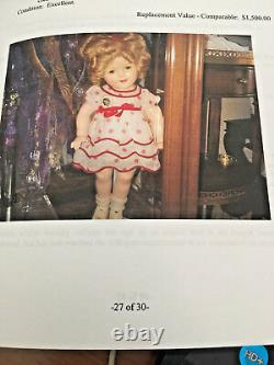 $1,500 Composition Shirley Temple Doll With Original Pin (1934)