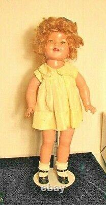 21 Ideal Composition Shirley Temple Doll-Dressed & Ready To Display