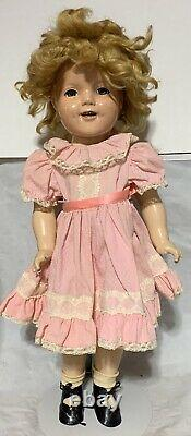 22 Ideal Composition Shirley Temple Doll with Mohair Wig