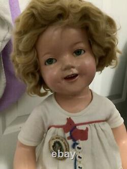 22 inch Shirley Temple tagged Scotty dress doll