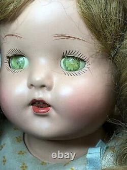 24 Antique Unbranded Shirley Temple Type Original Compo/Cloth Body 1930s #S