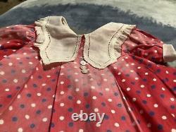 27 inch Shirley Temple birthday dress tagged