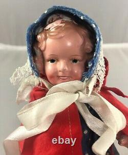 7 Antique Japanese Composition Shirley Temple Doll! Adorable! 18158