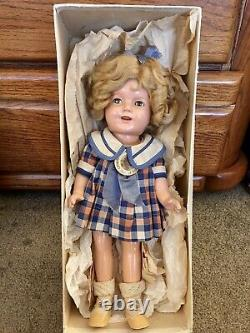 All Original Ideal 1930s Composition 13Shirley Tempel Doll & Box