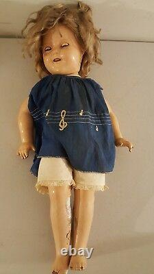 Antique 1930's SHIRLEY TEMPLE Composition Doll 18 Ideal with Sleeping Eyes RARE