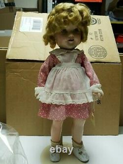 Antique 1930s IDEAL SHIRLEY TEMPLE Doll Composition Vintage 18