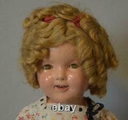 Antique Composition 1930's Ideal Shirley Temple Doll 20