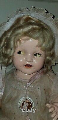 Antique Flirty Eye 15 Composition Ideal Baby Shirley Temple Doll