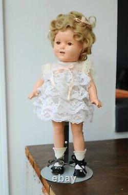 Antique Shirley Temple Composition Doll Sleepy Eyes