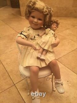 Danbury Mint Shirley Temple Doll Two Of A Kind Shirley & Her Doll 14 W Chair
