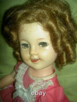 Darling 17, signed. Ideal, 1957 vinyl FLIRTY eyes, SHIRLEY TEMPLE doll