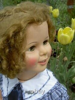 Gorgeous IDEAL, orig. 1959, sgnd. 35 Shirley Temple doll LIFE size, twist wrists