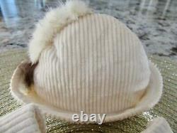 HTF Vintage 1930s Shirley Temple 16 Doll Corduroy Coat with Foxtails & Hat