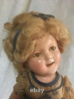IDEAL 1934 18 Shirley Temple Doll ALL ORIGINAL Stand Up And Cheer RARE FIND