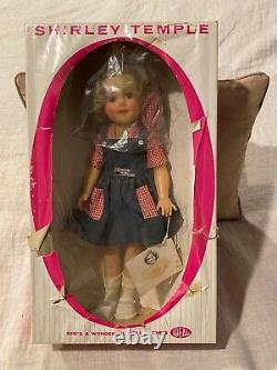 IDEAL SHIRLEY TEMPLE DOLL IN ORIGINAL BOX # 1400 ST 15 HN 1950's