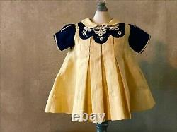 IDEAL SHIRLEY TEMPLE TAGGED ORIG DRESS FOR 20 COMPO DOLL, 1930's, MINT COND