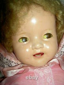 IDEAL signed, composition Shirley Temple BABY doll, clear working flirty eyes