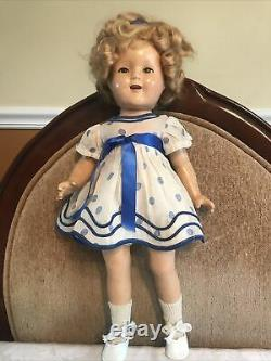 Ideal 1934 17 Shirley Temple Composition Doll Original Clothing Hangtag NRA tag