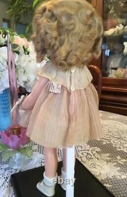 Ideal Composition 16 Shirley Temple Doll Clear Eyes! Orig Tagged Dress & Pin
