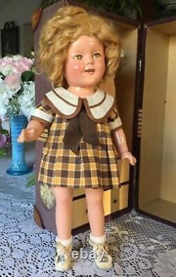 Ideal Composition Shirley Temple 16 All Original Rare Tagged Dresstrunk Xlnt