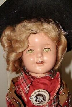 Ideal Composition Shirley Temple Texas Ranger with Box